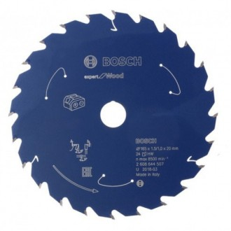 Диск за акумулаторен циркуляр Expert for Wood BOSCH, 165 mm