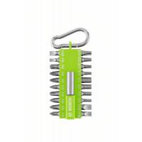 Комплект битове светлозелени с карабинер BOSCH 21 части
