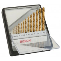 Комплект Robust Line свредла за метал HSS-TiN BOSCH, 135°, 13 части