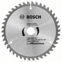 Диск за циркуляр Eco for Aluminium BOSCH 150 mm
