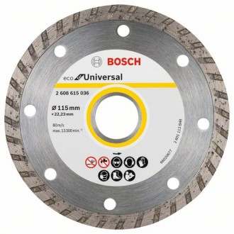 Диамантен диск BOSCH Turbo ECO 115 mm 10 броя