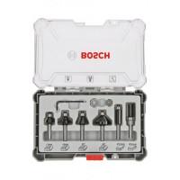 Комплект фрезери за подравняване BOSCH - 6 части