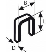 Скоба с тесен гръб тип 55 BOSCH 6 x 1,08 x 19 mm