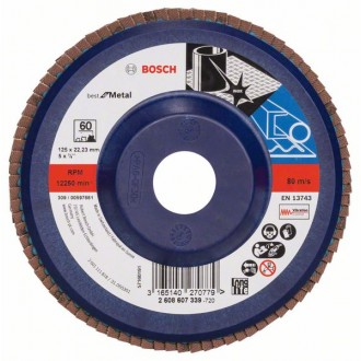 Диск за шлайфане X 571, Best for Metal BOSCH 125 mm, G60