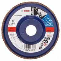 Диск за шлайфане ветрилообразен X 571, Best for Metal BOSCH 125 mm, G 80