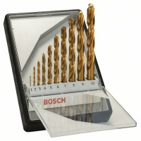 Комплект Robust Line свредла за метал HSS-TiN, 135°, 10 части BOSCH