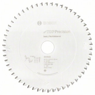 Диск за циркуляр, 210 mm Top Precision Best for Multi Material BOSCH