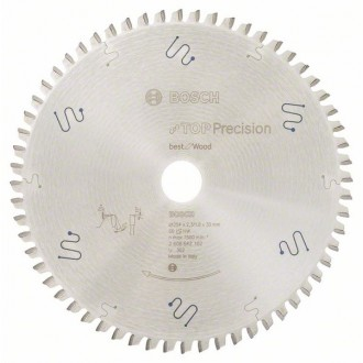 Диск за циркуляр 254 mm,Top Precision Best for Wood BOSCH