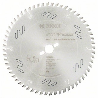 Диск за циркуляр, 303 mm Top Precision Best for Laminated Panel Abrasive BOSCH