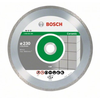 Диамантен диск за рязане Standard for Ceramic BOSCH 10 броя, 230 mm