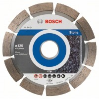 Диамантен диск за рязане 125 mm, Standard for Stone BOSCH - 10 броя