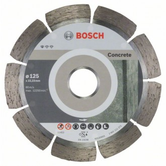 Диамантен диск за рязане BOSCH Standard for Concrete 125 mm, 10 броя