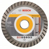 Диамантен диск за рязане Standard for Universal Turbo BOSCH 125 mm, 10 броя