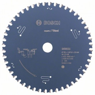Диск за циркуляр Expert for Steel BOSCH, 184 mm