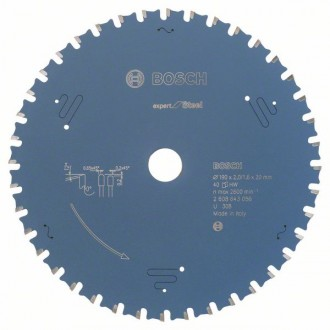 Диск за циркуляр Expert for Steel BOSCH, 190 mm