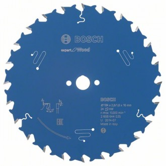 Диск за циркуляр Expert for Wood BOSCH, 184 mm