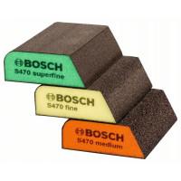 Комплект гъби за шлайфане, 3 бр. BOSCH 69 x 97 x 26 mm