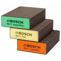 Комплект гъби за шлайфане, 3 бр. 69 x 97 x 26 mm BOSCH