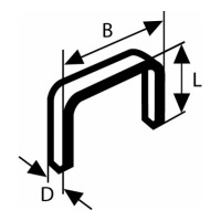 Кламери телбод 14/10 BOSCH -1000 бр.