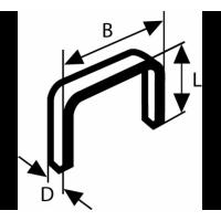 Кламери телбод 8/10 BOSCH - 1000 бр.